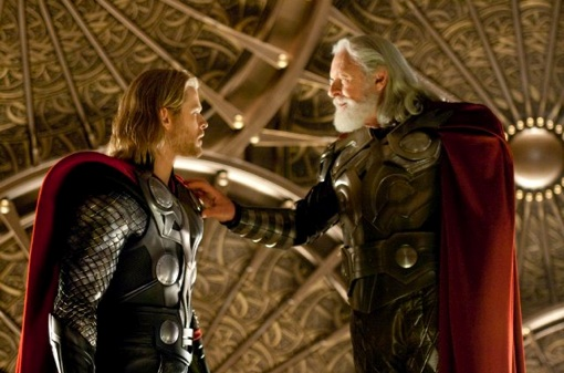 Thor and Odin reunited
