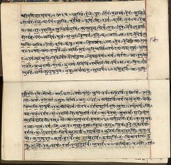 Rigveda manuscript from the early 19th century