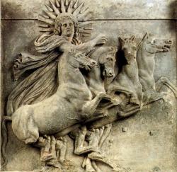 Helios lights the sky