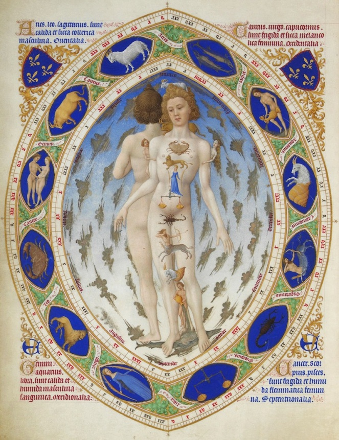 """Anatomical Man"" by Limbourg brothers"
