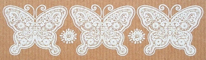 White butterfly strip
