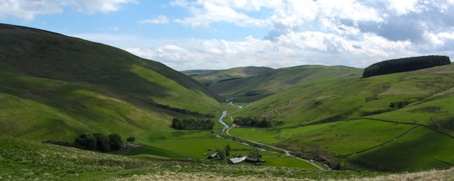 Upper Coquetdale in the Cheviots