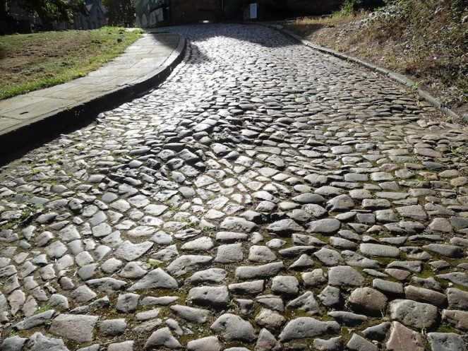 Cobble path behind The Ship Inn