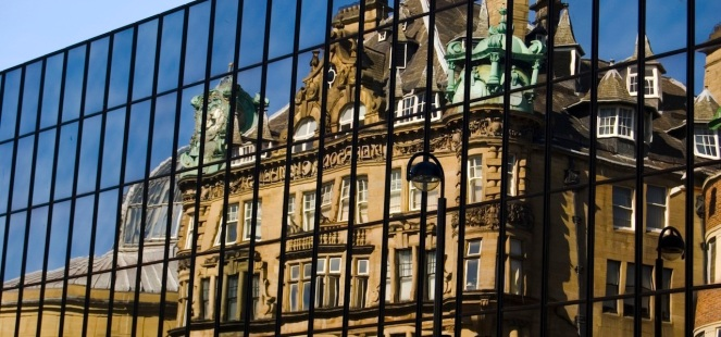 Newcastle Building reflection header