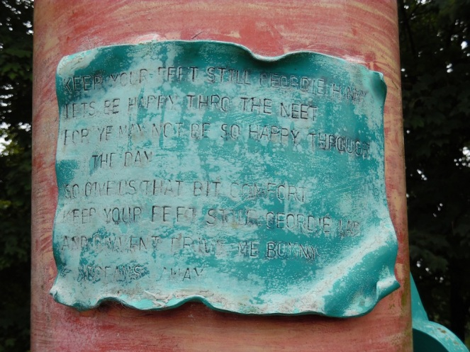 Keep your feet still plaque