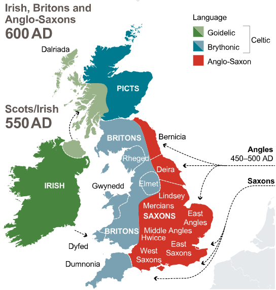 Irish Britons and Anglo Saxons