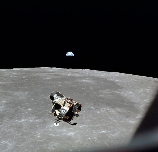 The lunar module prepares to land...